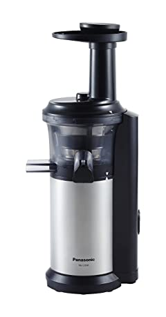Panasonic MJ-L500 Slow Juicer with Frozen Treat Attachment, Black/Silver