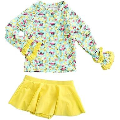 Amazon com: Happy childhood Baby Girl Two Piece Swimwear Kids