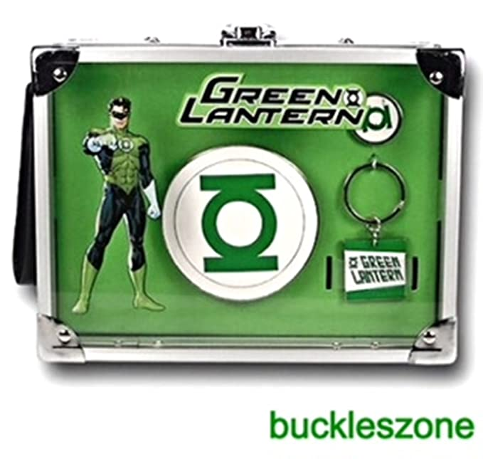 Amazon.com: Oficial Green Lantern Llavero Anillo Rock Box y ...