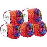 Rosecolor Teint à la main Gradient Pelote de laine–arc-en-ciel