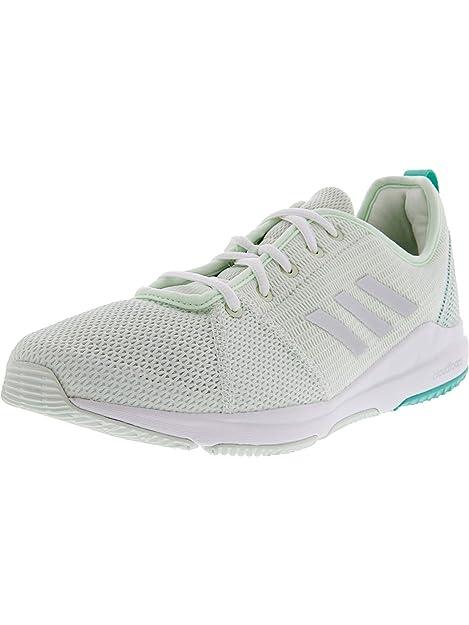 Adidas Women s Arianna Cloudfoam Aerial Green Silver Metallic Footwear  White Ankle-High Running Shoe 3459cbe19