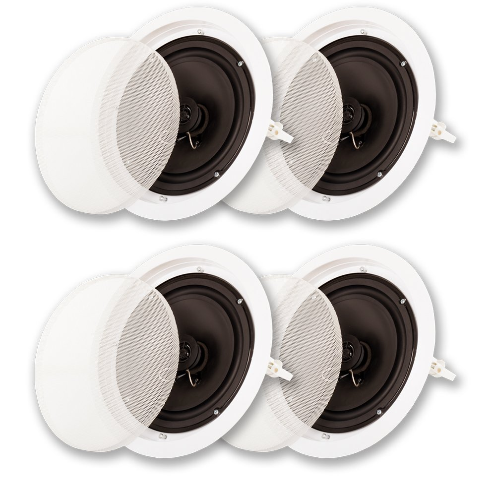 Acoustic Audio SP8c In Ceiling 8'' Speaker 2 Pair Pack 2 Way Home Theater 1200 Watt SP8c-2PR by Acoustic Audio by Goldwood