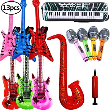 SWZY Inflables de Juguete, Inflable Guitarra Saxofón Micrófono ...