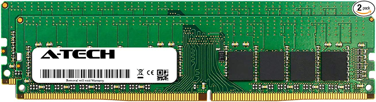 2 x 8GB Server Memory Ram Equivalent to OEM A8711886 SNP888JGC//8G for Dell PowerEdge T430 AT316656SRV-X2R6 DDR4 PC4-19200 2400Mhz ECC Registered RDIMM 1Rx8 A-Tech 16GB Kit
