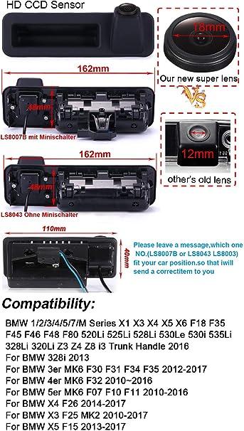 Navinio Auto Kofferraum Griff Rückfahrkamera Für Bmw 1 Elektronik