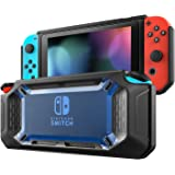 MoKo Protective Case for Nintendo Switch, Shock-Absorption and Anti-Scratch Heavy Duty Slim Hard Cover Switch Shell for Nintendo Switch Console & Joy Con Controllers 2017 – Blue & Black