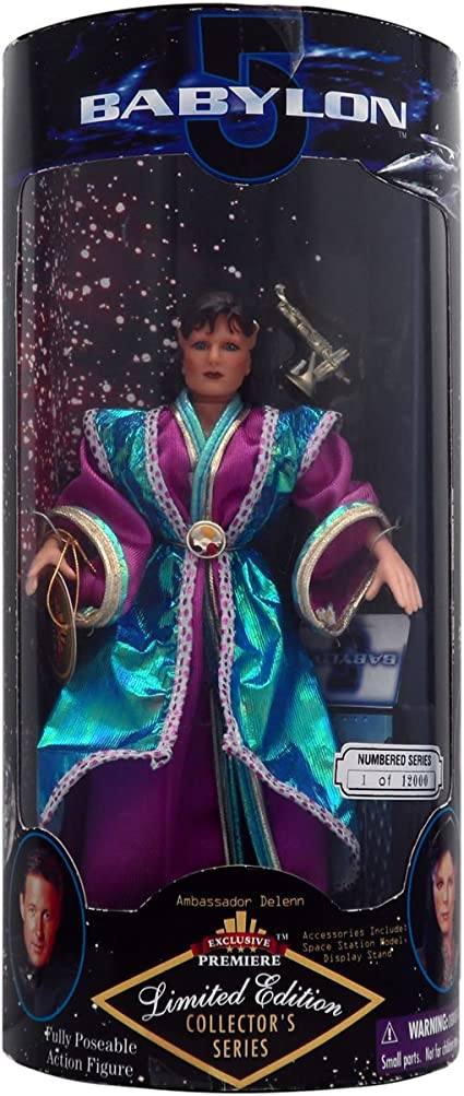 BABYLON 5 Ambassador Delenn Action Figure with Stand New In Box COLLECTORS SERIE