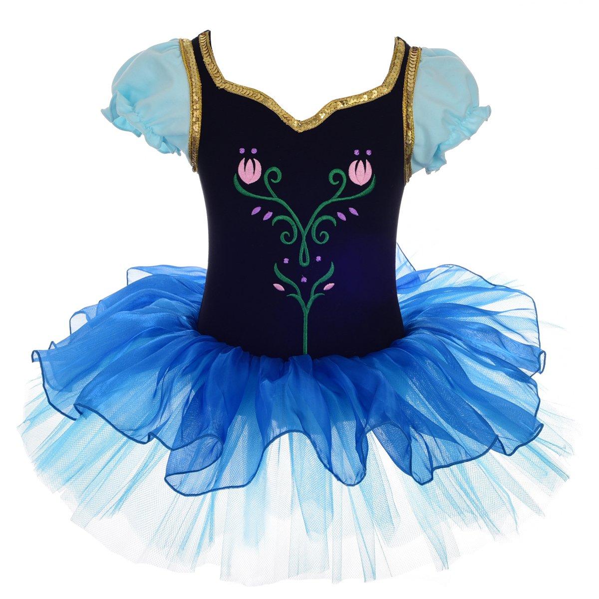 ad78576cc02b Amazon.com  Dressy Daisy Girls  Princess Anna Tulip Ballet Tutus ...