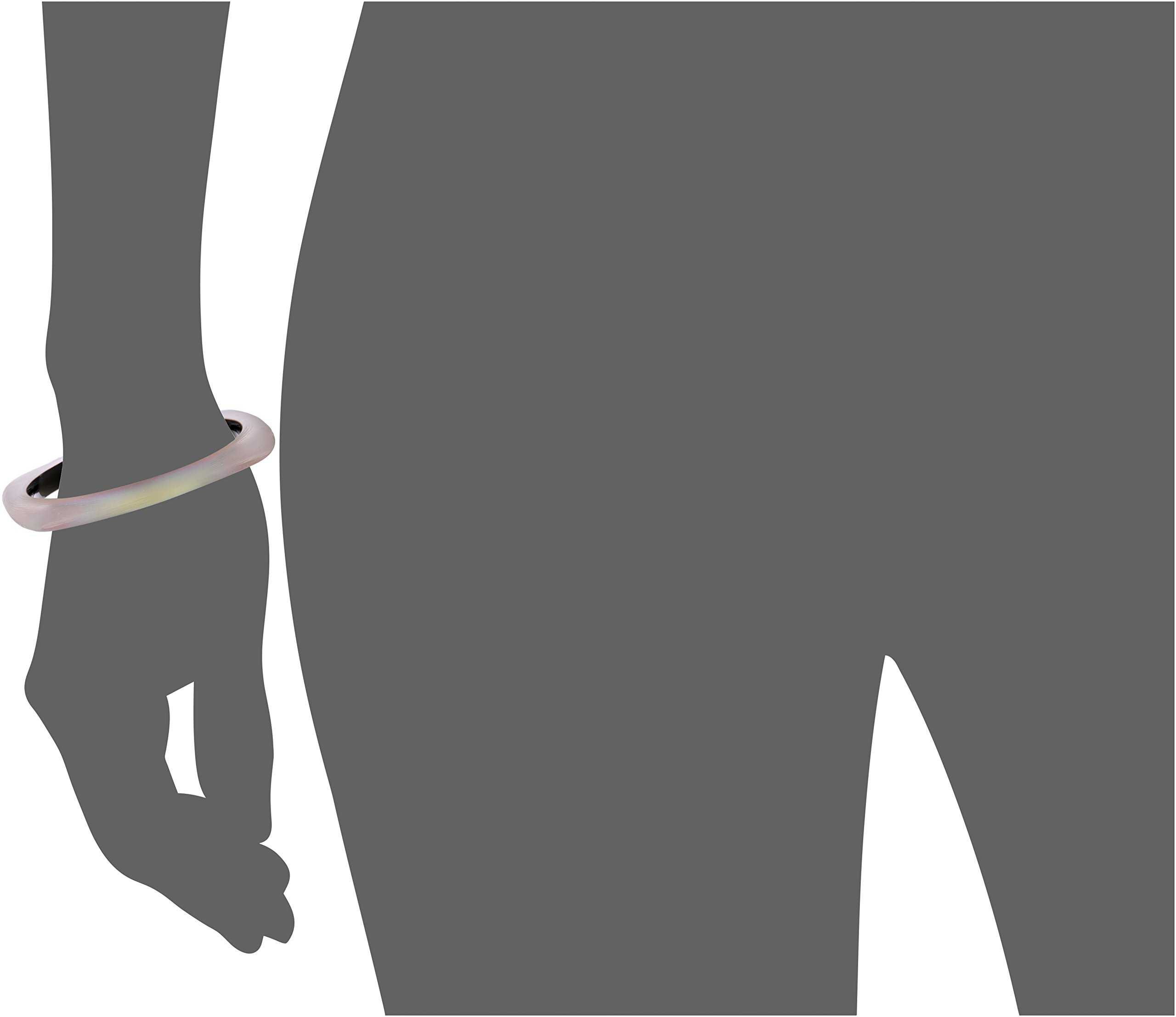Alexis Bittar Soft Square Cuff Bracelet Bangle, New Labradorite, One Size by Alexis Bittar (Image #2)