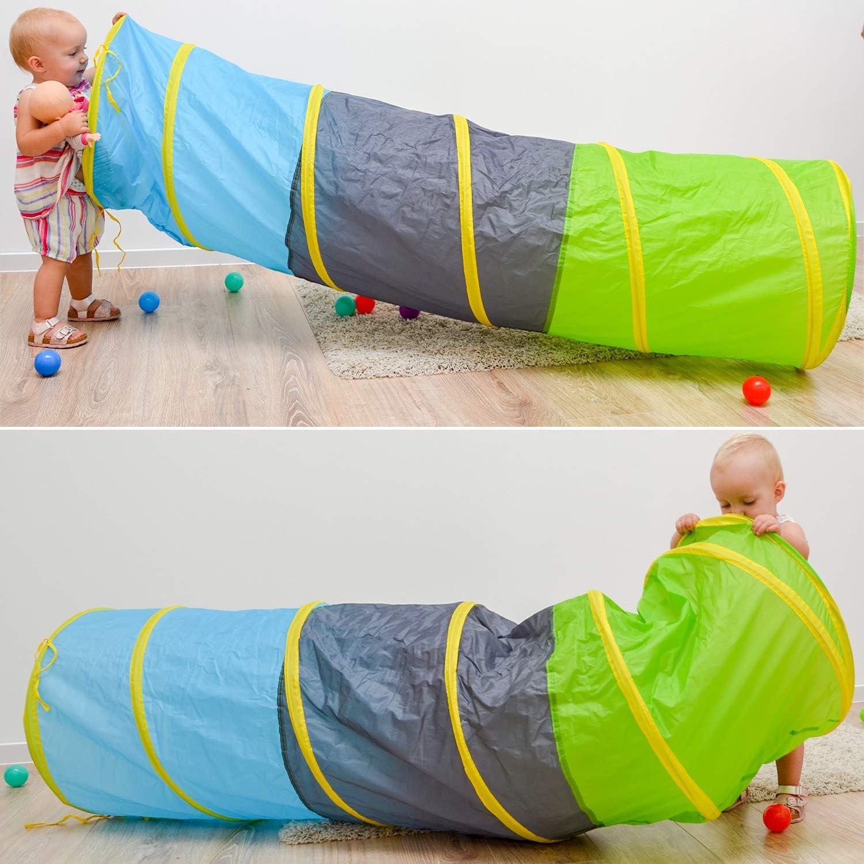 LittleTom Túnel de Juguete 180x46cm para niños pequeños de Lona ...