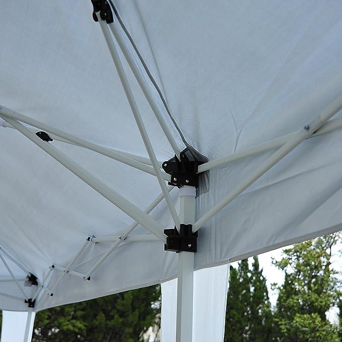 Outsunny Carpa Cenador para Exterior 6x3m Plegable en Acordeón ...