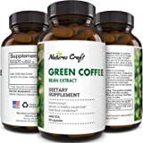 Natural Raw Green Coffee Bean Extract - Extra Strength Pure Premium Antioxidant Beans - 800 mg Max Fat Burner Supplement…