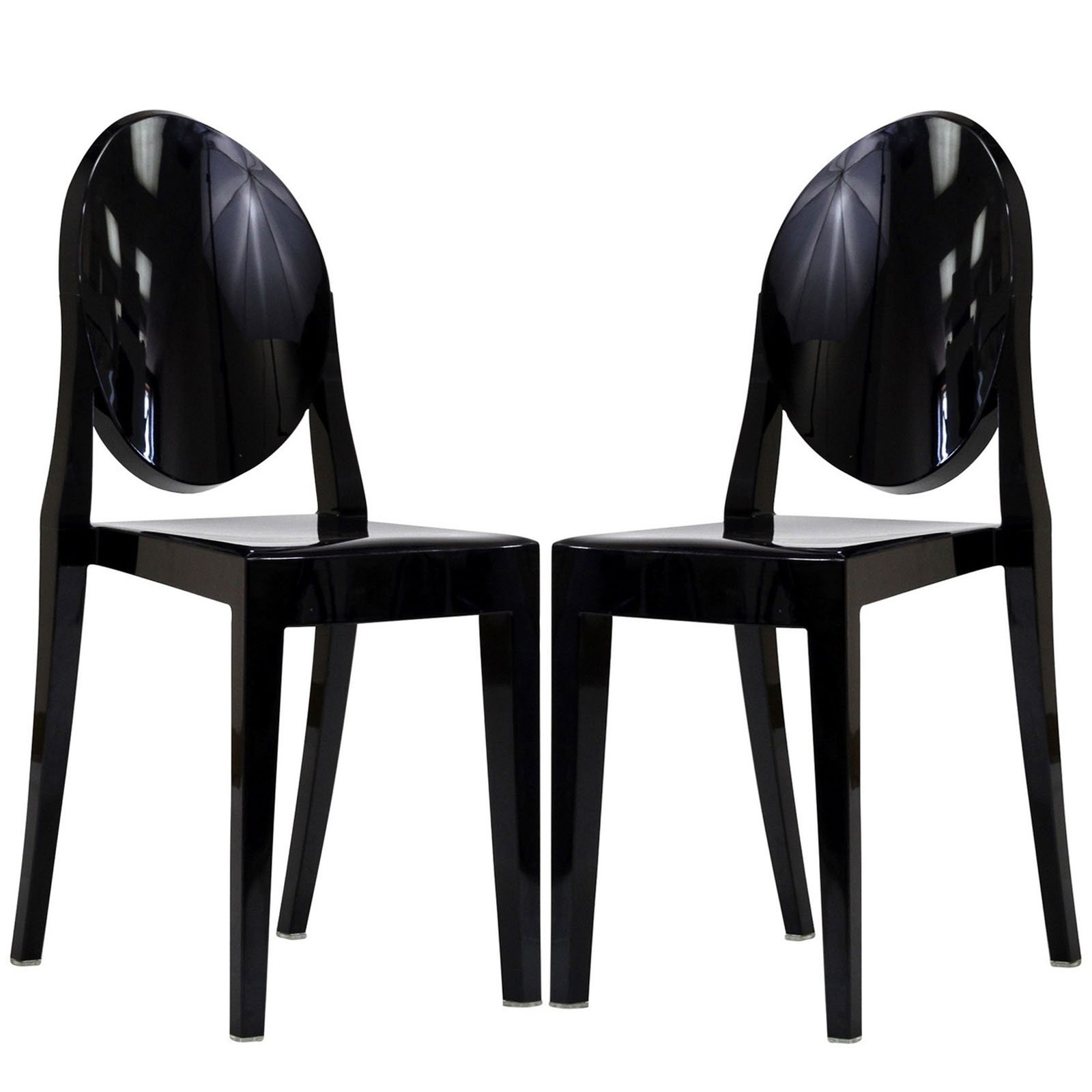 Modway Casper Modern Acrylic Dining Side Chairs in Black - Set of 2 by Modway