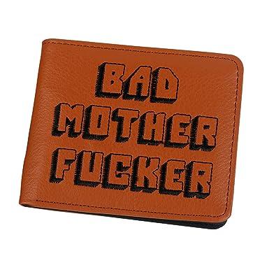 Cartera Billetera Monedero Pulp Fiction Bad Mother Fucker Bordada Polipiel (Marron): Amazon.es: Ropa y accesorios