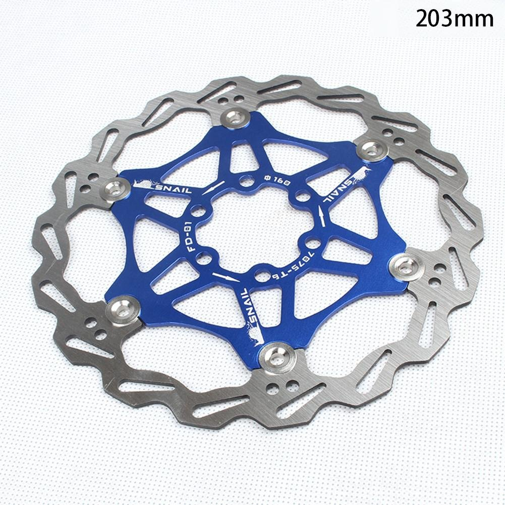 160 mm Wovemster Freno de disco de bicicleta MTB rojo disco flotante de bicicleta de monta/ña