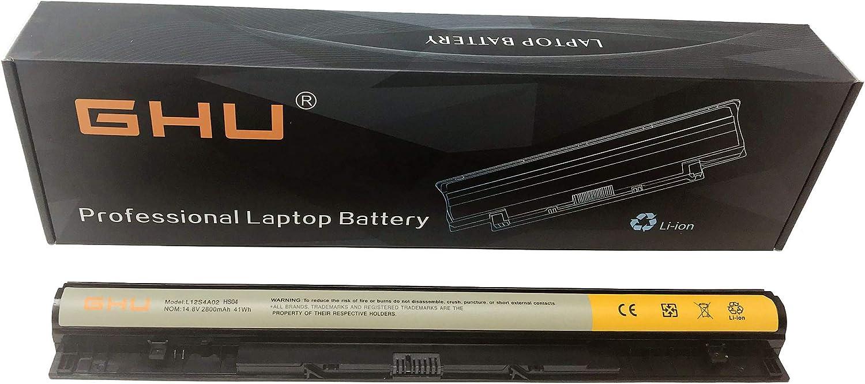 New GHU Battery L12L4A02 L12L4E01 41 WH Compatible with Lenovo IdeaPad G400S G405S G510S G500S G505S G510S S410P S510P Eraser G50-80 Z40-75 PN L12M4A02 L12M4E01 L12S4A02 L12S4E0 2800 mAh