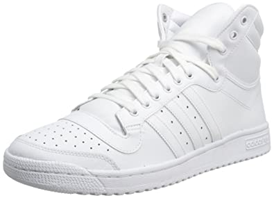 adidas Originals Men's Top Ten Hi Basketball Shoe, White/White/White, 7