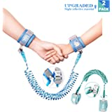 Anti-Lost Wrist Link, Outdoor Harness for Children. (Blue/8.2 ft and Cyan/4.9 ft)