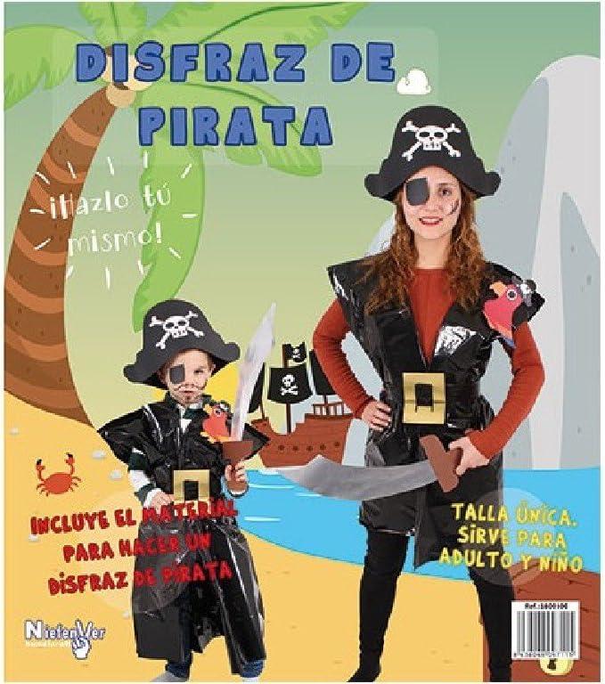 Niefenver Disfraz Bolsa Plástico Pirata: Amazon.es: Juguetes y juegos