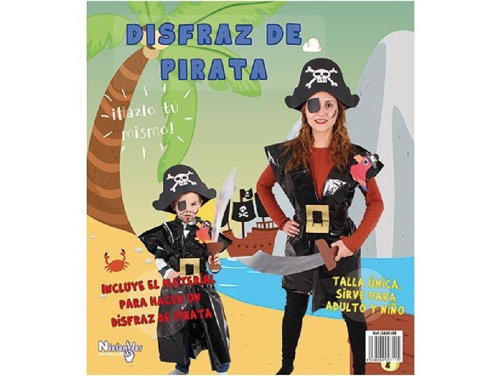Niefenver Disfraz Bolsa Plástico Pirata: Amazon.es: Juguetes ...