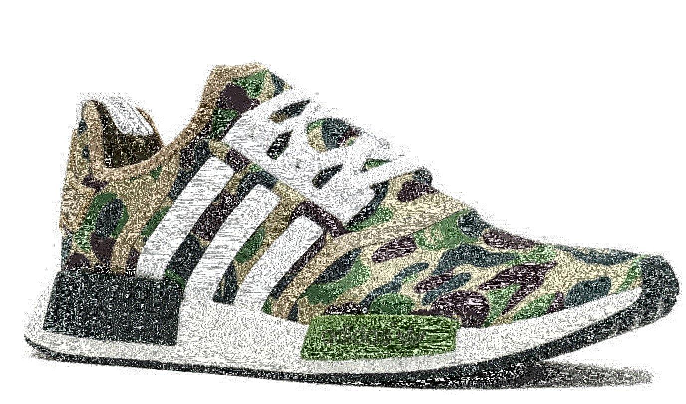 ddfff260f Adidas x Bape NMD - Green Camo - Size UK 8- Brand New  Amazon.co.uk  Shoes    Bags