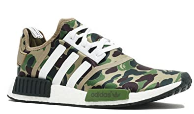 d9429e83ab863 Adidas x Bape NMD - Green Camo - Size UK 8- Brand New  Amazon.co.uk ...