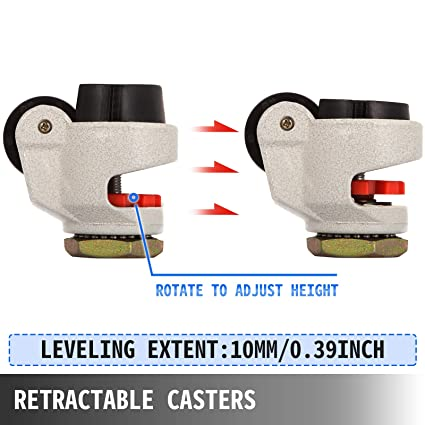 2205lbs Loadcapacity Details about  /4PCS Leveling Casters Set High Wearability Caster 1000kg