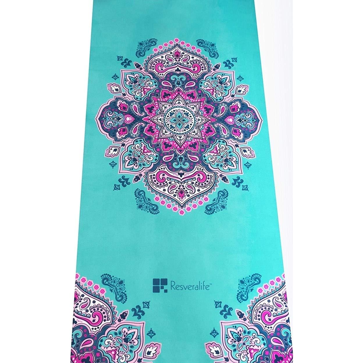 YOOMAT Resveralife Mandala Yoga-Matte, luxuriöse Rutschfeste Übungsmatten, die Sie in einen heiligen Raum bringen, egal wo Sie sind