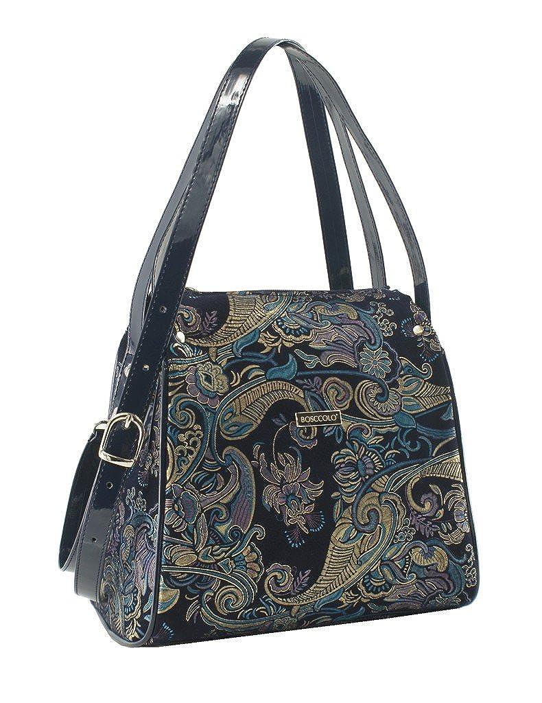 BOSCCOLO Women s H0 Shoulder Bag Black Black ethnic UK One Size   Amazon.co.uk  Shoes   Bags f490865d51016