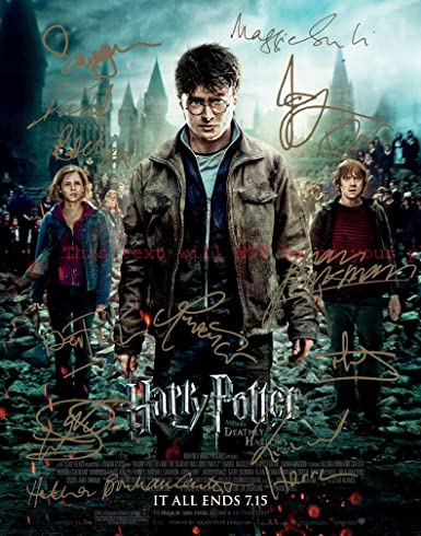 Harry Potter And The Deathly Hallows Part 2 Autographed 11x14