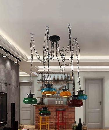 Superior CHAOXIAN Retro Farbige Reifen Leuchter Deckenleuchten Kreatives Wohnzimmer  Schlafzimmer Studie Restaurant Bar Lichter Deckenleuchten