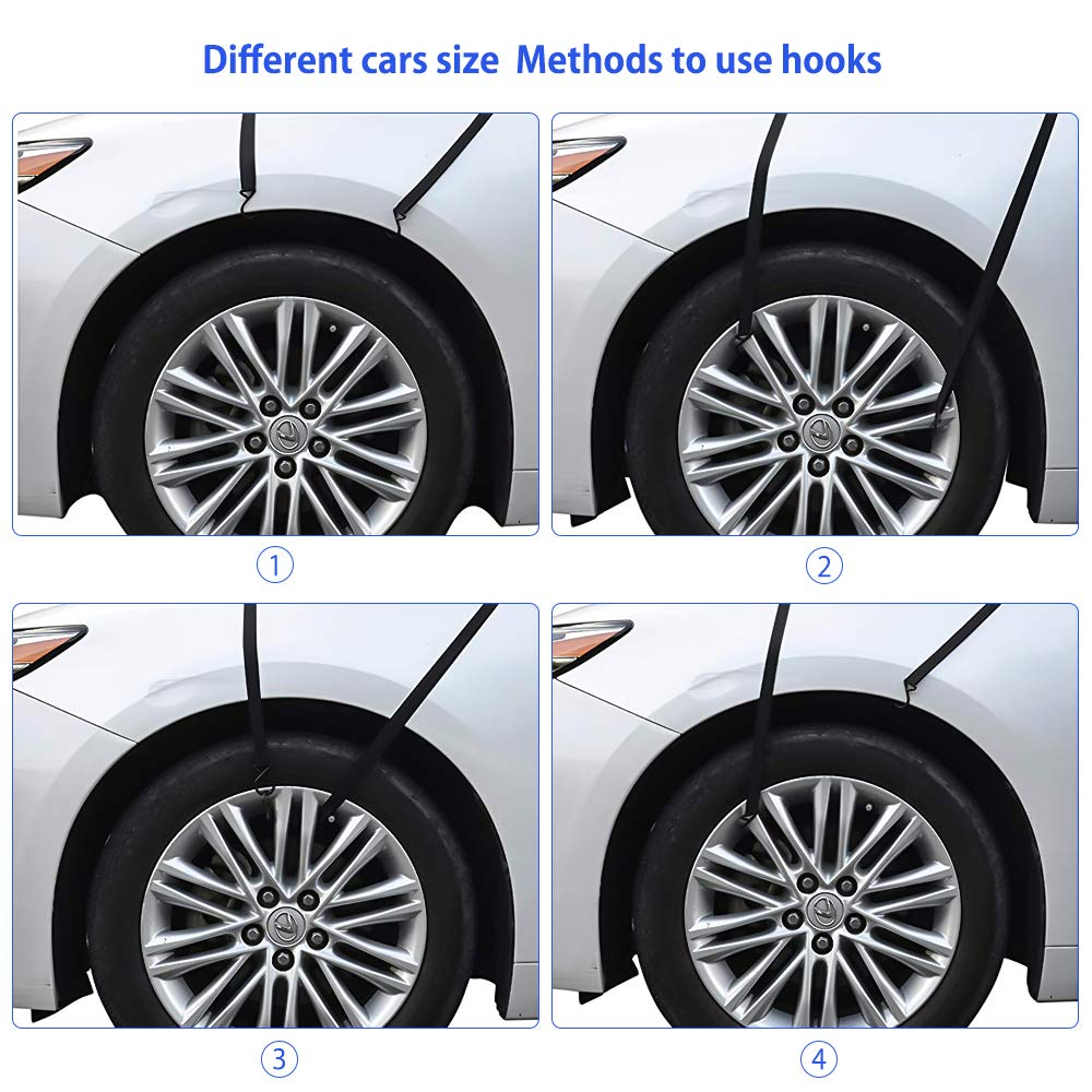 Oziral Car windscreen Magnetic Snow Cover with Mirror Covers Sun Shade Cover Protector with Hook /& Magnets and Exterior Waterproof Sunshade for Cars SUVS 215x125cm