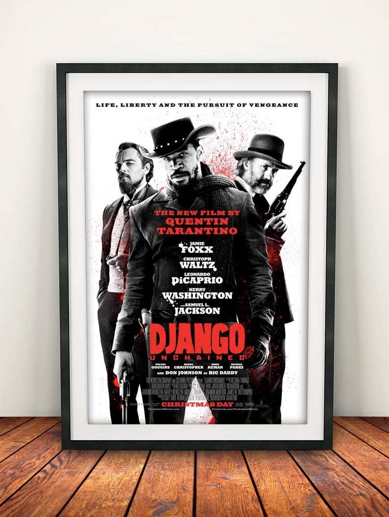 Somanyposters Django Unchained 2012 Movie Poster Print Amazon Co Uk Kitchen Home