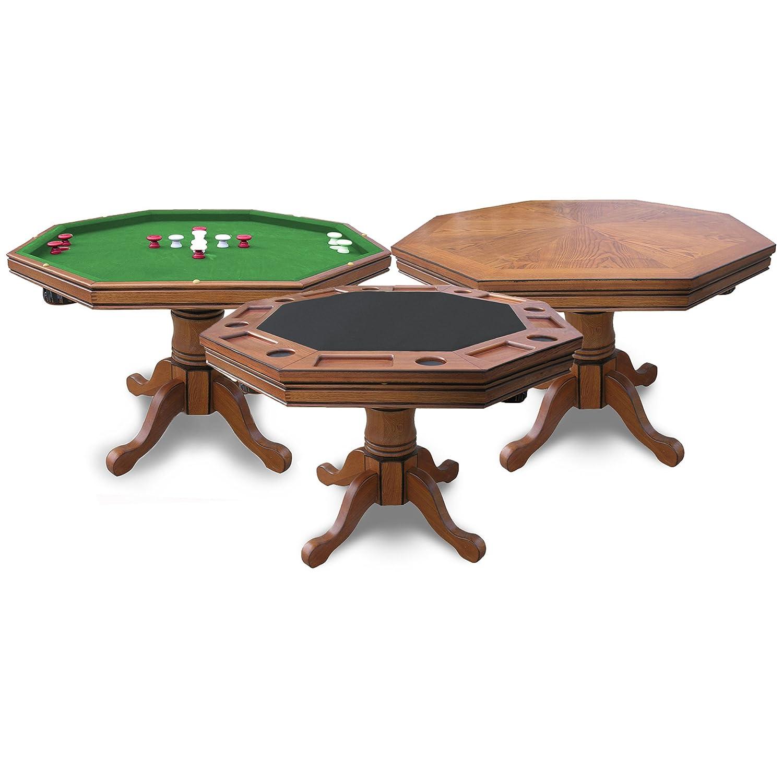 Amazon Hathaway Kingston Oak 3 in 1 Poker Table Poker