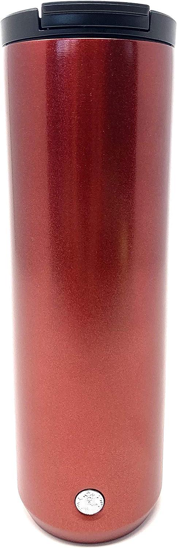 Starbucks Vacuum Insulated Stainless Steel Traveler Tumbler Coffee Mug 16 Oz - Metallic Red