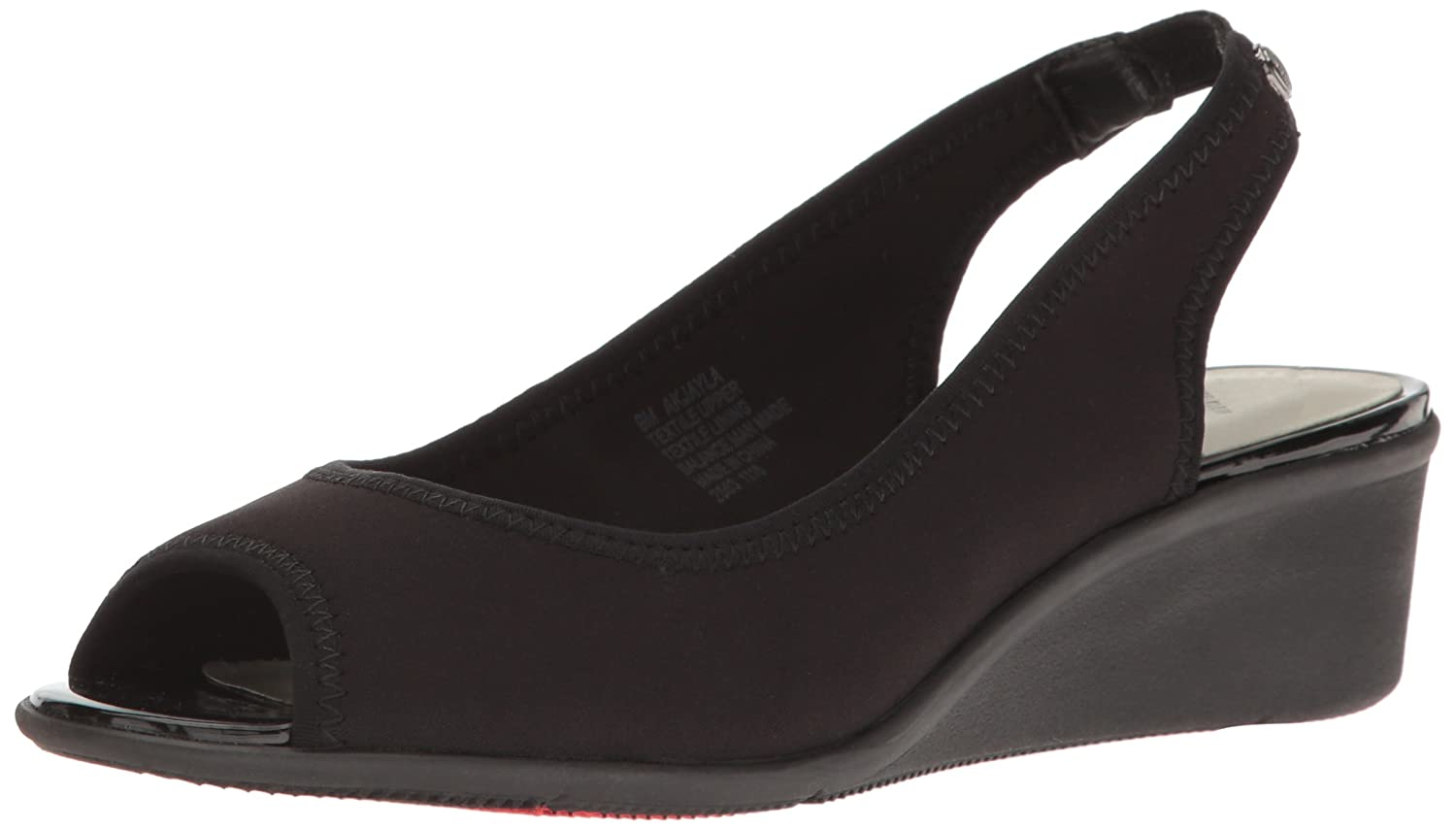 Anne Klein AK Sport Women's Jayla Fabric Wedge Pump B005ASC7KS 5.5 B(M) US|Black