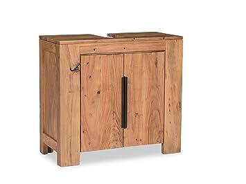 Woodkings® Waschbeckenunterschrank Auckland Echtholz Akazie ... | {Badunterschrank 41}
