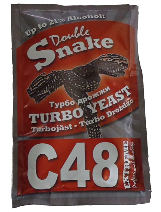 Turbo Levadura Double Snake C48, hasta 21% Alcohol, gärhefe, vino Levadura de Turbo: Amazon.es: Alimentación y bebidas