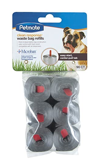 Petmate 71096 90 Count Clean Response Pets Waste Bag Refills, Silver
