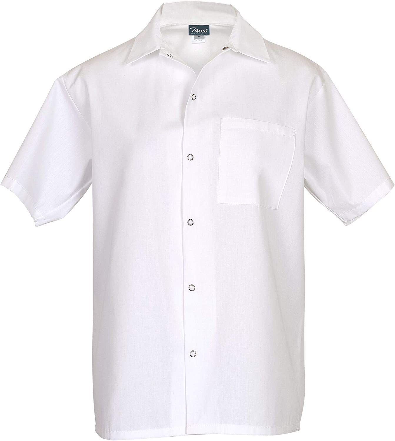FAME Premium Short Sleeve Cook Shirt (White - 2XL) C25-81167