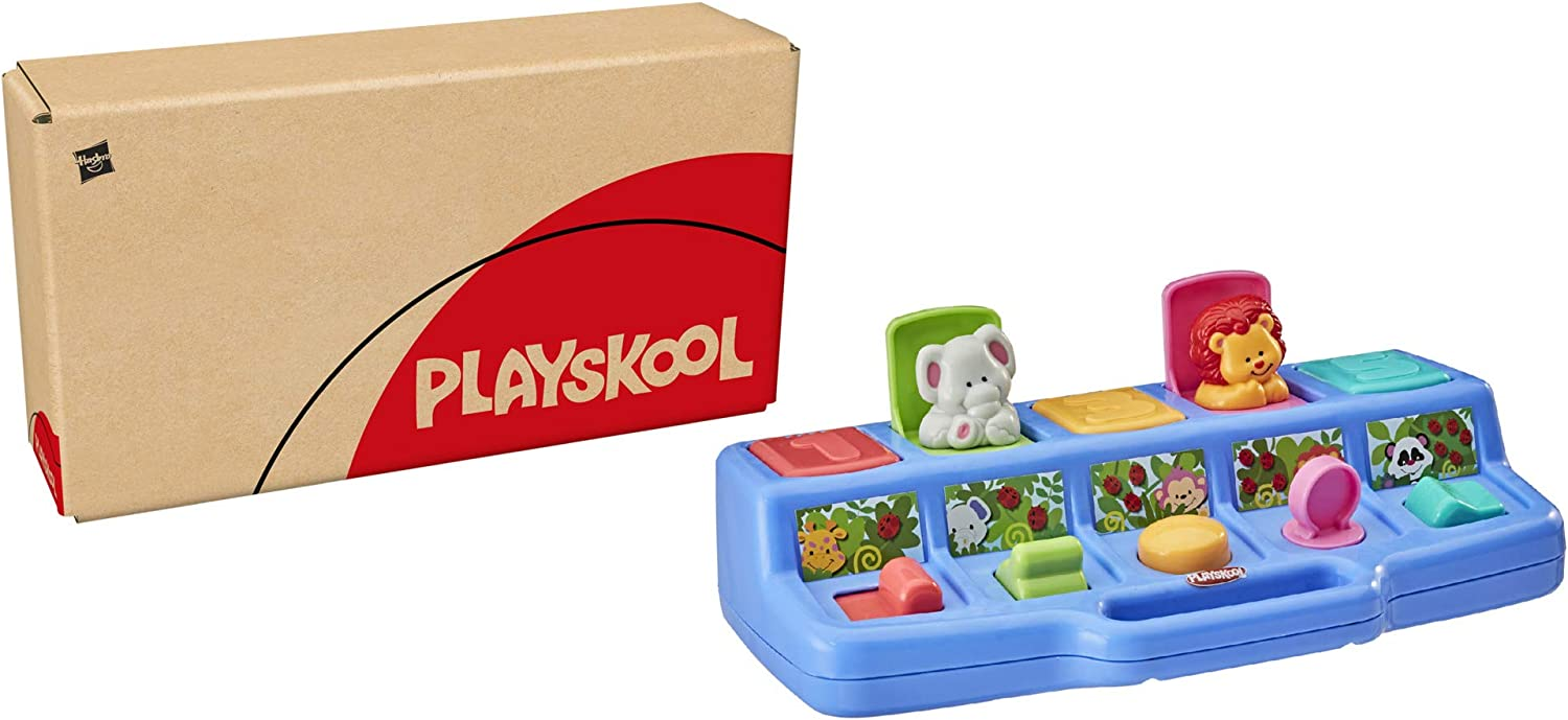 Playskool Busy Poppin' Pals Pop-Up Activity Toy for Babies and Toddlers Ages 9 Months and Up (Amazon Exclusive)