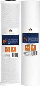 """Aquaboon Big Blue CTO Carbon Block & Sediment 20""""x4.5"""" Replacement Filter Cartridges Set"""