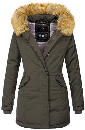 Marikoo Damen Winter Jacke Parka Mantel Winterjacke warm gefüttert B362   Amazon.de  Bekleidung 60dd733717