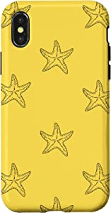 iPhone X/XS Starfishes On Yellow Background Case