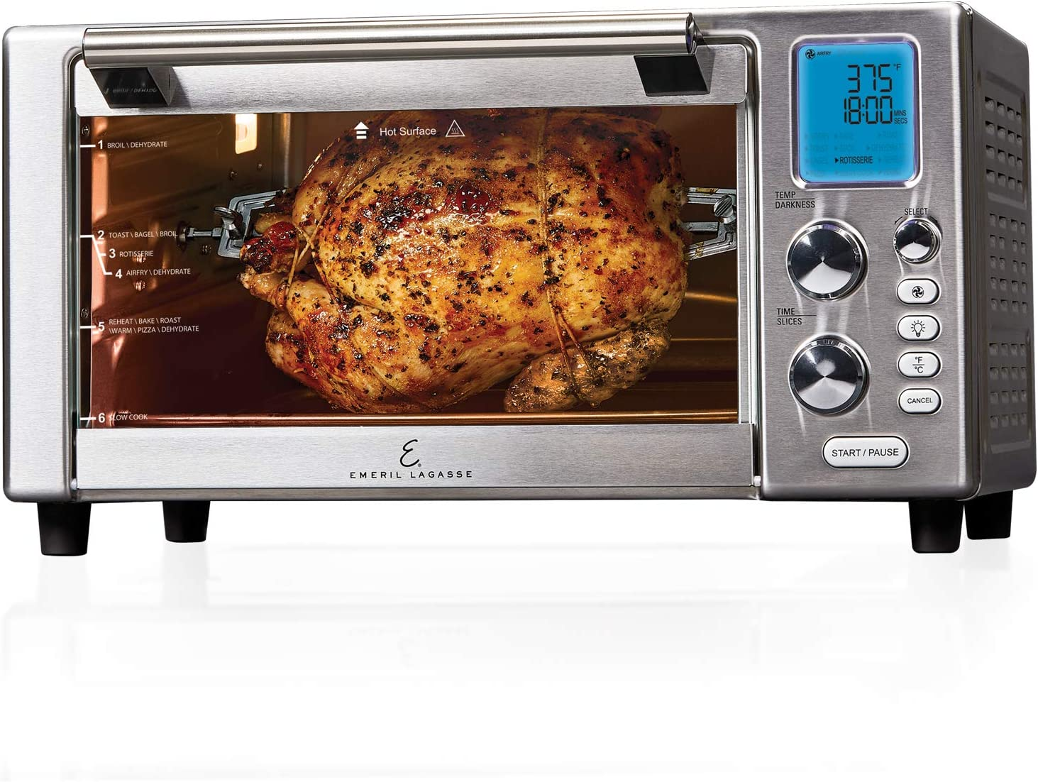 "Emeril Everyday 360 Deluxe Air Fryer Oven, 15.1"" x 19.3"" x 10.4"" with Accessory Pack, Silver"