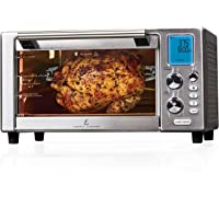 Emeril Lagasse Power Air Fryer 360 Better Than Convection Ovens Replaces a Hot Air Fryer Oven, Toaster Oven, Rotisserie, Bake, Broil, Slow Cook, Pizza, Dehydrator & More. Emeril Cookbook. Stainless Steel.