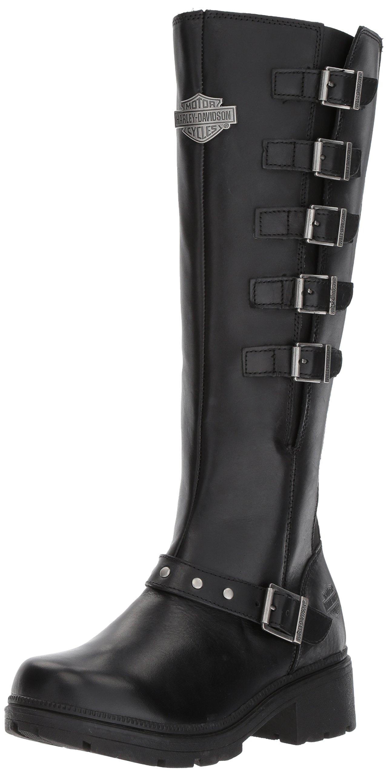 Harley-Davidson Women's Glassford Work Boot, Black, 10 M US by Harley-Davidson