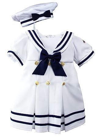 2a98706fb Amazon.com  Spring Notion Baby Toddler Girls Nautical Sailor Dress ...