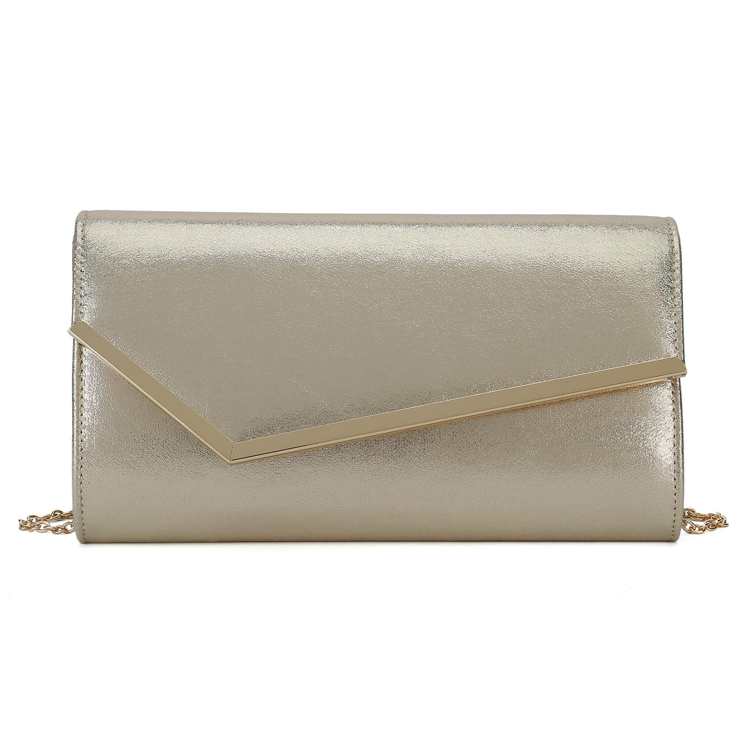 Amazon.com: Charming Tailor Shimmering metálico embrague ...