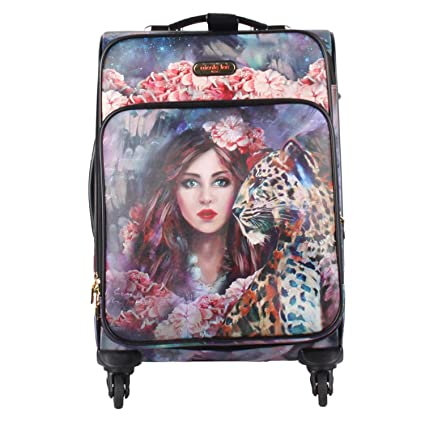 Amazon.com | Travel Spacious 4 Spinner Rolling Wheels Colorful Print Luggage (Wild Eclypse) | Carry-Ons